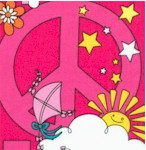 Bag It - Retro Peace on Pink