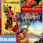 Library of Rarities - Vintage Travel Poster Collage