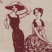 Paris - Vintage Fashionistas on Beige
