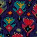 Santa Fe - Southwest Motifs on Deep Purple