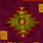 American Heritage 2 - Southwestern Blanket Motif on Burgundy (SW-blanket-W565)