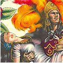 Folklorico - Contigo - Aztec Characters and Symbols on Cream