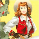 From the Hip - Glamorous Cowgirls on Yellow