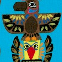 Indian Totem on Turquoise