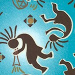 Kokopelli on Turquoise