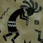 Tucson - Tossed Kokopelli on Sage Green