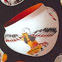 Tucson - Tossed Southwest Pottery on Black - LTD, YARDAGE AVAILABLE