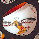 Tucson - Tossed Southwest Pottery on Black - LTD, YARDAGE AVAILABLE
