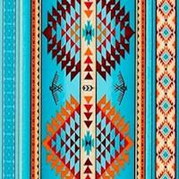 Tucson - Turquoise Vertical Stripe