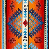 Tucson - Terra Cotta and Turquoise Vertical Stripe