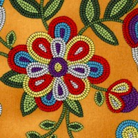 Tucson - Beaded Style Flowers on Gold