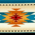 Tucson - Gilded Southwestern Stripe in Turquoise