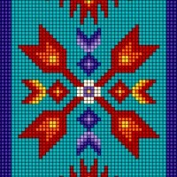 Tucson - Beaded Style Southwestern Vertical Stripe in Turquoise