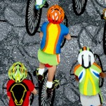 Cycling - Bicyclists on Grey - BACK IN STOCK!