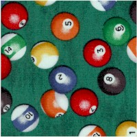 Man Cave - Tossed Billiard Balls on Green