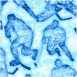 Face Off - Hockey Player Silhouettes by Dan Morris