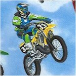Motocross on Blue Sky Background