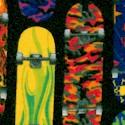 Extreme Skateboards on Black FLANNEL