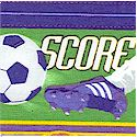 SP-soccer-L858 Sports Collage - Girls' Soccer Vertical Stripe by Jeremy Wright