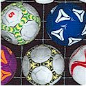 Sports Collection - Small-Scale Soccer Balls in Rows