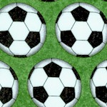 Stonehenge Kids:Soccer Ball Rows on Green