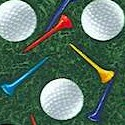 Tossed Golf Balls and Tees on Grass