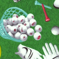 Hole in One - Tossed Golf Equipment on the Green by Whistler Studios