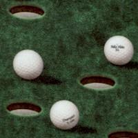 Chip Shot - Golf Balls on the Green  by Dan Morris