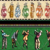 Chip Shot - Golfing Vertical Stripe on Green by Dan Morris