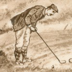 Golf Club - Vintage Golf Scenes - LTD. YARDAGE AVAILABLE (1.125 YARDS) MUST BE PURCHASED IN FULL
