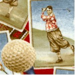 On the Green - Tossed Vintage Golfers and Golfballs