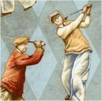 On the Green - Vintage Golfers on Argyle