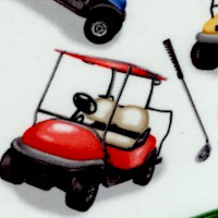 Back Nine - Tossed Golf Carts, Balls and Clubs