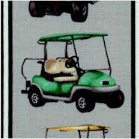 Back Nine - Golfing Vertical Stripe