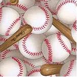 Sports Collection -Packed Three Dimensional Baseballs and Bats - BACK IN STOCK!
