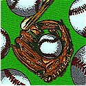 Tossed Baseballs  Gloves and Bats on Green