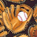 Tossed Baseball Gloves and Balls on Black