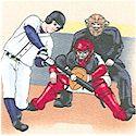 Tossed Baseball Scenes on Beige