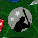 Sports Life - Tossed Baseball Equipment and Silhouettes #2 by Karen Foster