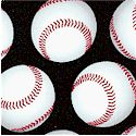 Sports Life - Tossed Baseballs on Black by Karen Foster