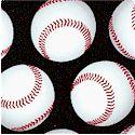 Sports Life - Tossed Baseballs on Black by Karen Foster