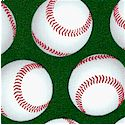 Sports Life - Tossed Baseballs on Green by Karen Foster
