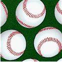 Sports Life - Tossed Baseballs on Green by Karen Foster