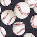 Tossed Baseballs on Navy Blue -BACK IN STOCK!