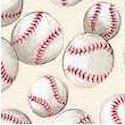 Tossed Baseballs on Cream - BACK IN STOCK!