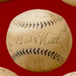 Who's On First - Vintage Baseballs on Red