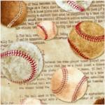 Tossed Vintage Baseballs