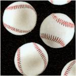 Sports Life 5 - Tossed Baseballs on Black