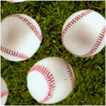 Sports Life 5 - Tossed Baseballs on Grass