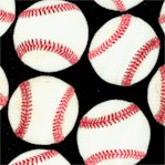 All Sports - Tossed Baseballs on Black by Maria Kalinowski